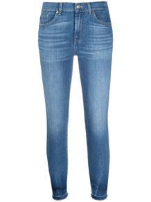 укороченные джинсы скинни средней посадки 7 for all mankind 166622435055