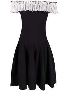 расклешенное платье с открытыми плечами Alexander McQueen 1677813076
