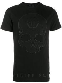 футболка с декором Skull PHILIPP PLEIN 1401686076