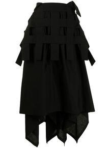 юбка асимметричного кроя с оборками Y3 1678195350