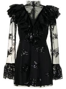 платье мини с прозрачными вставками и пайетками Macgraw 164020834948
