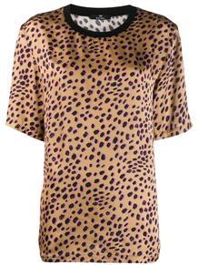 атласный топ с леопардовым принтом PS Paul Smith 142433498876