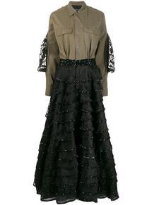 комбинированное длинное платье Gueigne John Richmond 146365895248