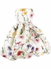 пышное платье с цветочным принтом Oscar de la Renta 1681906752