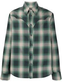 клетчатая рубашка с аппликацией DUOltd 1605161076
