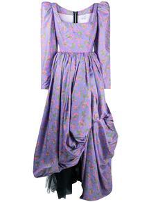 платье с пышной юбкой и цветочным принтом Natasha Zinko 160358445156