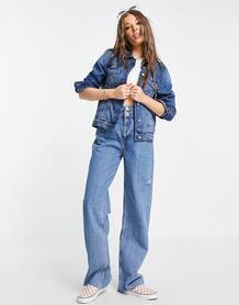 Синяя выбеленная джинсовая куртка Bloom-Голубой Brave Soul 11843350