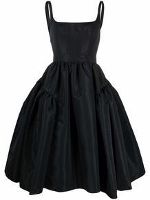 платье миди со сборками Alexander McQueen 168237535250