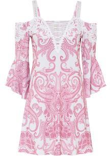 Платье с открытыми плечами bonprix 267350112