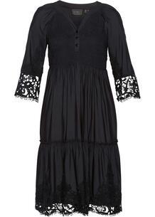 Платье-рубашка из вискозы с кружевом bonprix 267338659