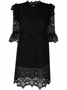 платье мини с кружевной вышивкой VIVETTA 166611885252