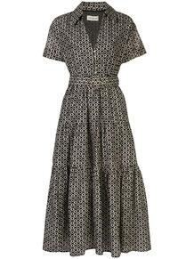 ярусное платье-рубашка с принтом икат Nicholas 1511130952
