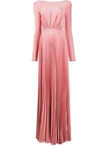 длинное платье с U-образным вырезом на спине Elisabetta Franchi 156841635252