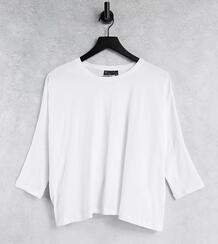 Белая свободная футболка с рукавами «летучая мышь» ASOS DESIGN Tall-Белый Asos Tall 11874393