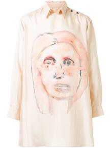 длинная рубашка со съемным воротником Y3 1581917652