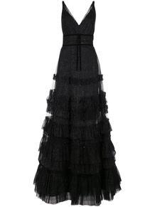 платье с оборками и блестками MarchesaNotte 1456389948