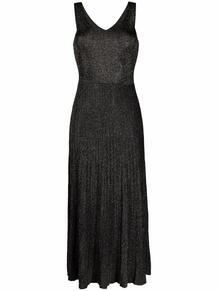 трикотажное платье миди без рукавов ROBERTO COLLINA 1677588083