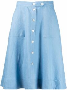 расклешенная юбка А-силуэта Polo Ralph Lauren 1683671150