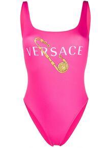 купальник с принтом Safety Pin Versace 1513424050