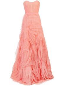длинное платье из тюля MarchesaNotte 134104684950
