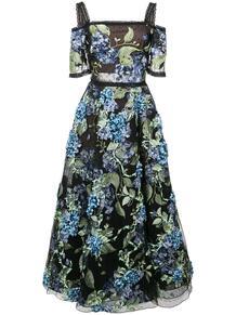 платье с цветочной аппликацией MarchesaNotte 1276343954