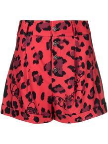 шорты с леопардовым принтом PHILIPP PLEIN 1619224277