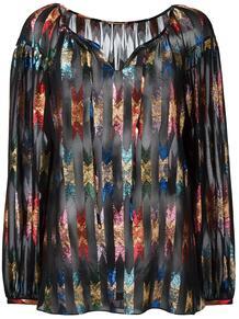 прозрачная блузка с блестящим узором Yves Saint Laurent 117791265156
