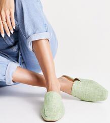 Зеленые мюли с квадратным носком для широкой стопы Wide Fit Maria-Зеленый цвет ASOS DESIGN 11295316