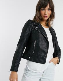 Черная куртка из искусственной кожи -Черный цвет Vero Moda 11501124