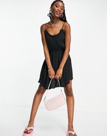 Черное платье на бретельках -Черный цвет Pimkie 11928799