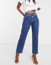 Синие джинсы прямого кроя-Синий ASOS DESIGN 8801516