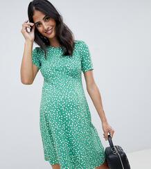 Чайное платье мини в горошек ASOS DESIGN Maternity ultimate-Мульти Asos Maternity 7647433
