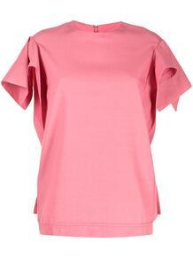 футболка с круглым вырезом и драпированными рукавами 3.1 PHILLIP LIM 1629773448