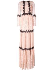 кружевное платье миди MarchesaNotte 1341043154