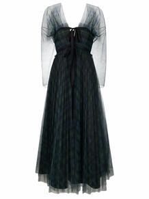 платье в клетку тартан PHILOSOPHY DI LORENZO SERAFINI 169044275252