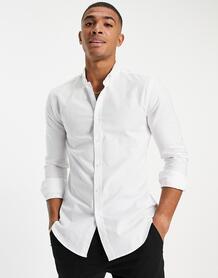 Белая оксфордская обтягивающая рубашка с длинными рукавами -Белый New Look 104933674