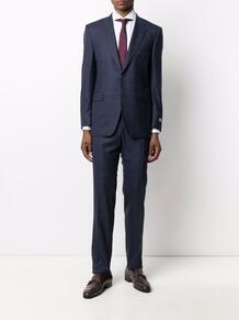 клетчатый костюм с однобортным пиджаком Canali 169113535256