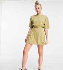 Приталенное платье-футболка цвета хаки -Зеленый цвет Missguided Tall 12120826