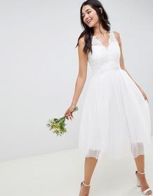 Кружевное приталенное платье Wedding-Белый Little Mistress 7762670
