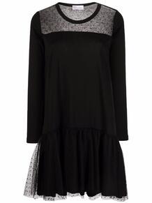 платье с длинными рукавами и прозрачными вставками RED VALENTINO 1689462483