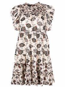 платье со сборками и эффектом градиента ULLA JOHNSON 1691846556