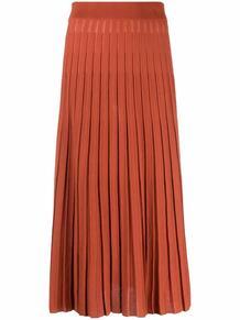 плиссированная юбка миди Tory Burch 1689534376