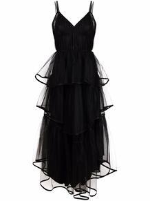 ярусное платье из тюля ALBERTA FERRETTI 168964655250
