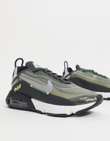 Черные кроссовки с зелеными вставками Air Max 2090-Черный Nike 11997527