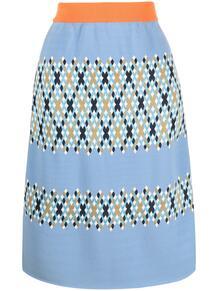 трикотажная юбка с узором аргайл Marni 162699135250