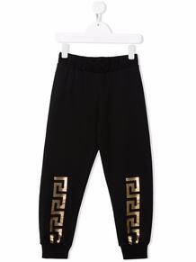 спортивные брюки с принтом Greca Versace Kids 168998834952