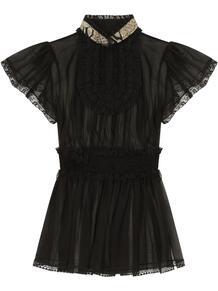 полупрозрачная блузка с кружевом Dolce&Gabbana 163126145254