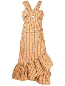 присборенное платье в клетку CINQ À SEPT 1693810056