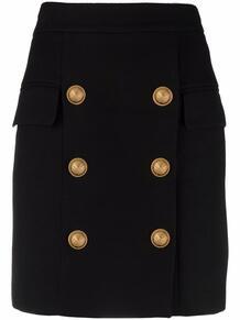 юбка с гравировкой на пуговицах BALMAIN 169303635248
