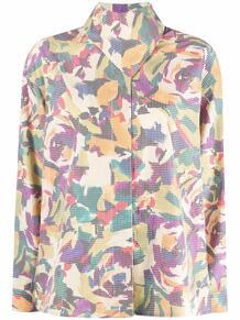 блузка с абстрактным принтом и высоким воротником Kenzo 169389275154